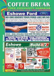Coffee Break Magazine, April 2018 Edition, Eshowe, Kwa-Zulu Natal, South Africa