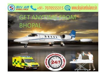 Utilize Best Air Ambulance service in Bhopal by Sky at Low-Fare