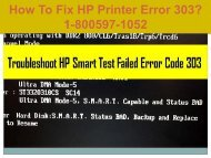 Call +1-800-597-1052 Fix HP Printer Error 303 For HP Support