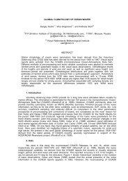 GLOBAL CLIMATOLOGY OF OCEAN WAVES Sergey Gulev(1), Vika ...