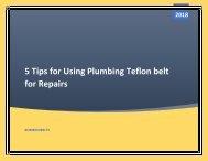 5 Tips for Using Plumbing Teflon belt for Repairs