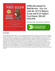 [PDF] Download No Bull Review - For Use with the AP US History Exam and SAT Subject Test Ebook   READ ONLINE