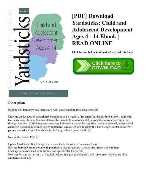 PDF] Download Yardsticks: Child and Adolescent Development Ages 4