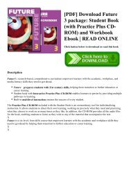 [PDF] Download Future 3 package: Student Book (with Practice Plus CD-ROM) and Workbook Ebook   READ ONLINE