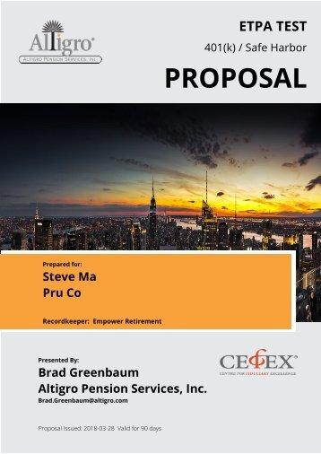 ETPA TEST Proposal