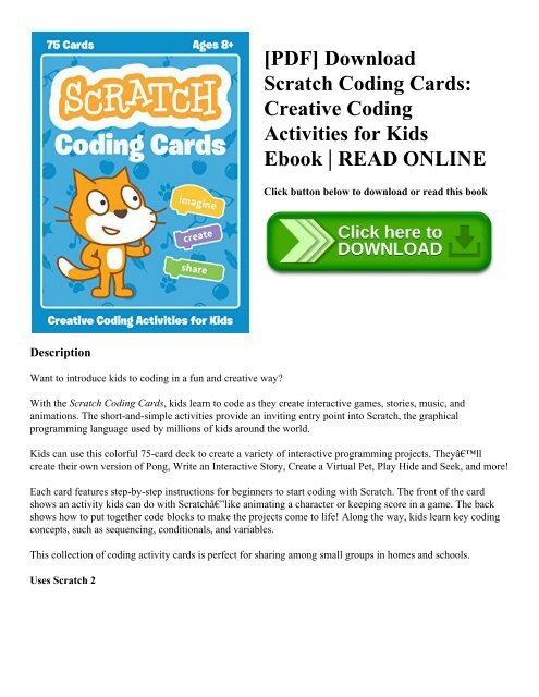 PDF] Download Scratch Coding Cards: Creative Coding