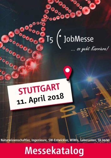 Der Messekatalog zur T5 JobMesse Stuttgart 2018