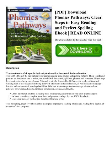 [PDF] Download Phonics Pathways: Clear Steps to Easy Reading and Perfect Spelling Ebook | READ ONLINE