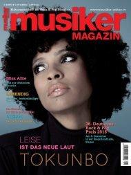 Musiker Magazin 1/2018
