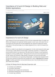 Importance of UI and UX Design in Building Web and Mobile Applications