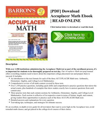 [PDF] Download Accuplacer Math Ebook | READ ONLINE