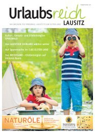 Ferienmagazin Urlaubsreich Lausitz, Ausgabe Frühjahr und Sommer 2018