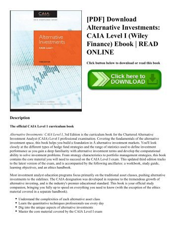 Pdf download john bogle on investing the first 50 years wiley pdf download alternative investments caia level i wiley finance ebook fandeluxe Choice Image