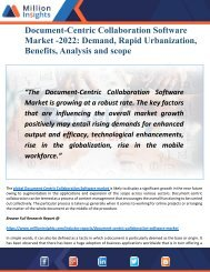 Document centric collaboration software Market 2022 In-Depth Analysis by Growing Demands