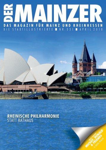 DER MAINZER - Das Magazin für Mainz und Rheinhessen - Nr. 331