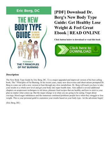Online pdf dr berg s new body type guide get healthy lose weight pdf download dr bergs new body type guide get healthy lose weight ccuart Choice Image