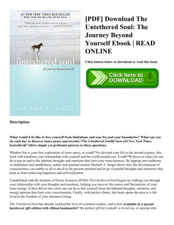 [PDF] Download The Untethered Soul: The Journey Beyond Yourself Ebook | READ ONLINE