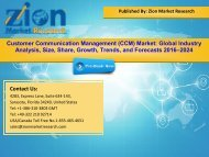 Global Customer Communication Management (CCM) Market, 2016–2024