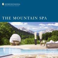 THE MOUNTAIN SPA - InterContinental Berchtesgaden Resort
