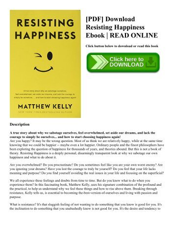 [PDF] Download Resisting Happiness Ebook | READ ONLINE