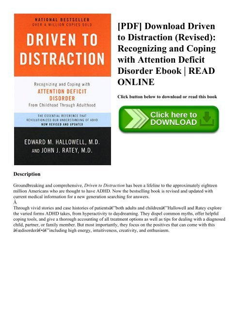 bf26d7e85df9c PDF] Download Driven to Distraction (Revised): Recognizing and ...