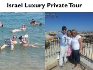 Israel Luxury Private Tour