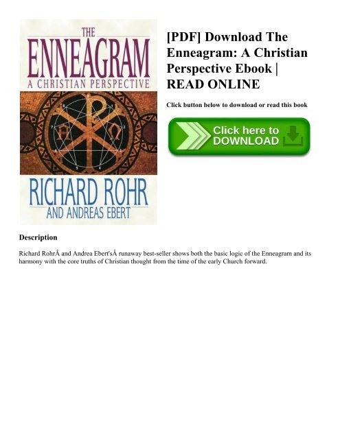 Pdf Download The Enneagram A Christian Perspective Ebook Read Online