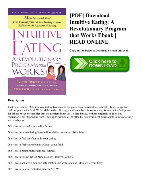 PDF] Download Intuitive Eating: A Revolutionary Program that Works