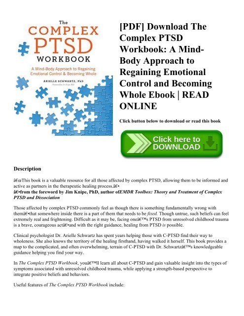 photo relating to Free Printable Ptsd Workbook titled PDF] Obtain The Challenging PTSD Workbook: A Brain-Overall body