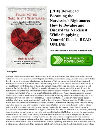 [PDF] Download Becoming the Narcissist's Nightmare: How to Devalue and Discard the Narcissist While Supplying Yourself Ebook | READ ONLINE