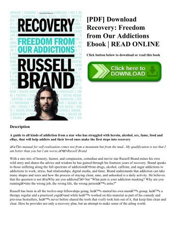 [PDF] Download Recovery: Freedom from Our Addictions Ebook | READ ONLINE