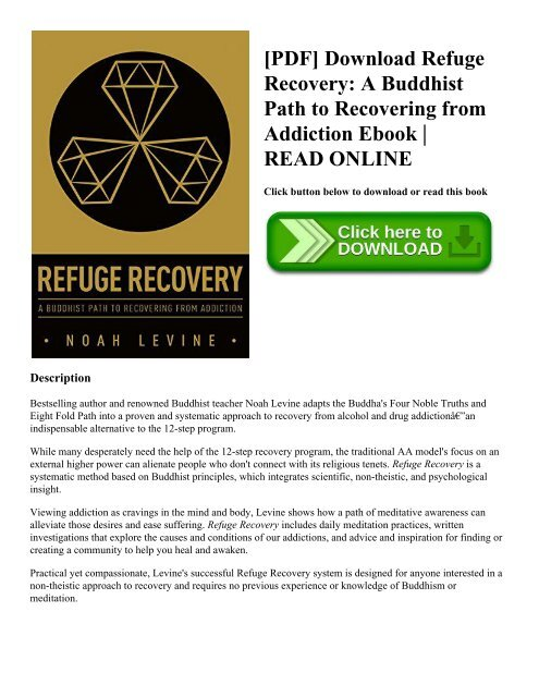 pdf] download refuge recovery a buddhist path to recovering from[pdf] download refuge recovery a buddhist path to recovering from addiction ebook read online