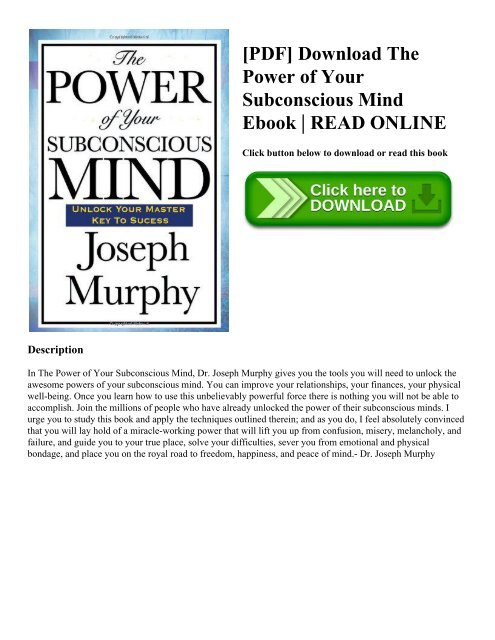 The Power Of Mind Pdf