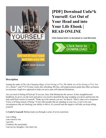 [PDF] Download Unfu*k Yourself: Get Out of Your Head and into Your Life Ebook | READ ONLINE