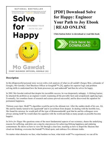 [PDF] Download Solve for Happy: Engineer Your Path to Joy Ebook | READ ONLINE