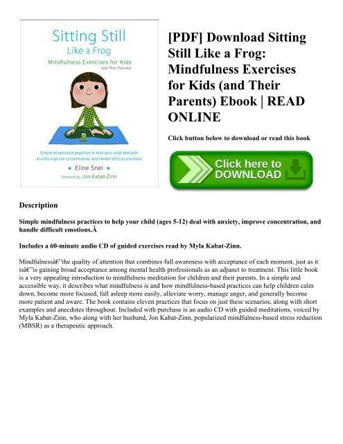 Pdf Download Sitting Still Like A Frog Mindfulness Exercises For