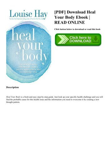 [PDF] Download Heal Your Body Ebook | READ ONLINE
