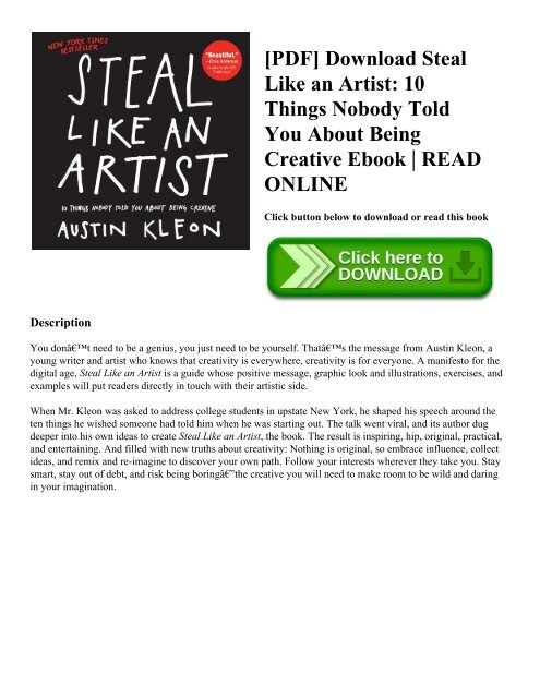 pdf download steal like an artist 10 things nobody told you about