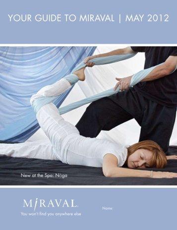 New At The Spa - Miraval Resorts