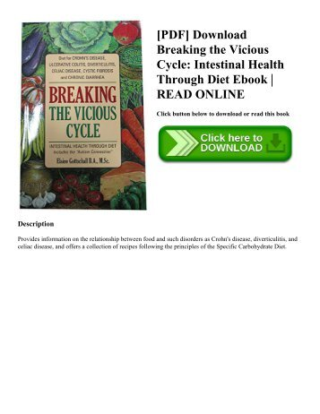 [PDF] Download Breaking the Vicious Cycle: Intestinal Health Through Diet Ebook | READ ONLINE