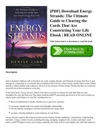 [PDF] Download Energy Strands: The Ultimate Guide to Clearing the Cords That Are Constricting Your Life Ebook | READ ONLINE