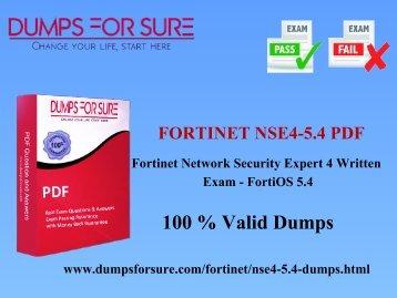 Fortinet NSE4-5.4 PDF braindumps