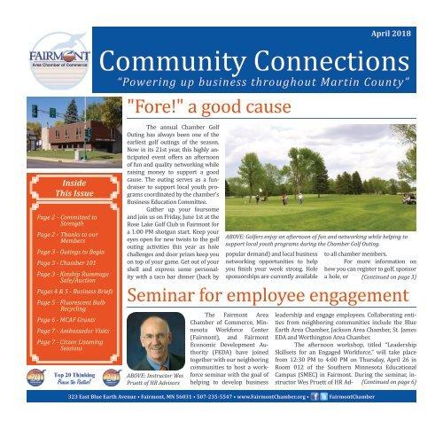 Chamber Newsletter - April 2018