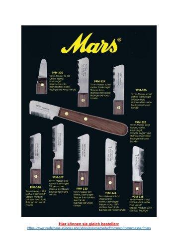 Mars Trimmmesser Katalog