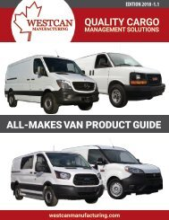 All Make Van Product Guide