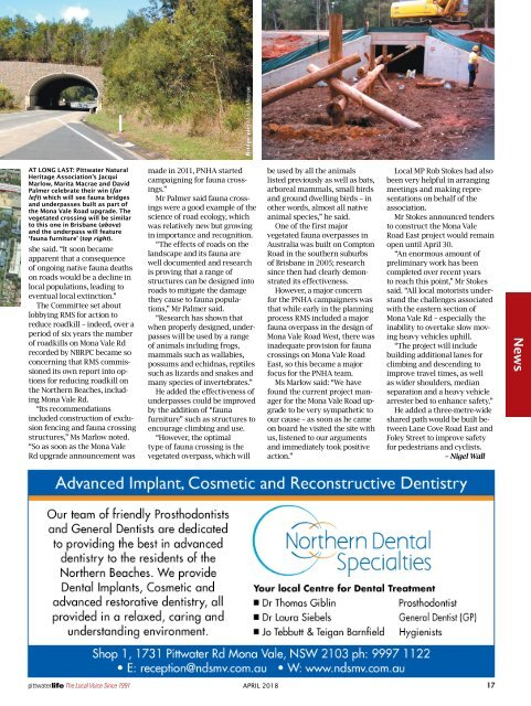 Pittwater Life April 2018 Issue