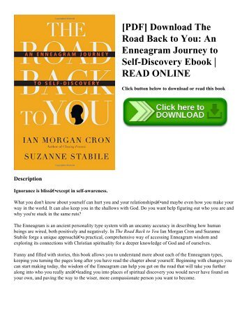 [PDF] Download The Road Back to You: An Enneagram Journey to Self-Discovery Ebook | READ ONLINE