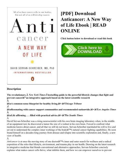 PDF] Download Anticancer: A New Way of Life Ebook | READ ONLINE