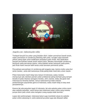 Indonesia Poker Online