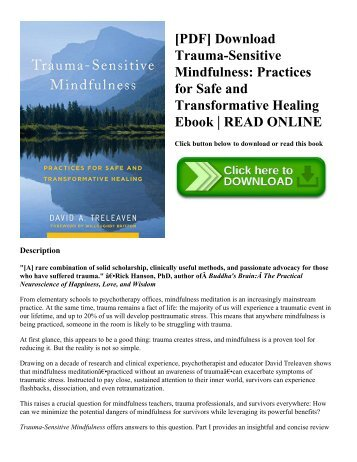 [PDF] Download Trauma-Sensitive Mindfulness: Practices for Safe and Transformative Healing Ebook | READ ONLINE